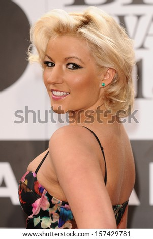 Natalie Coyle arrives for the Classic Brit Awards 2013 at the Royal Albert Hall, London. 02/10/2013 - stock photo