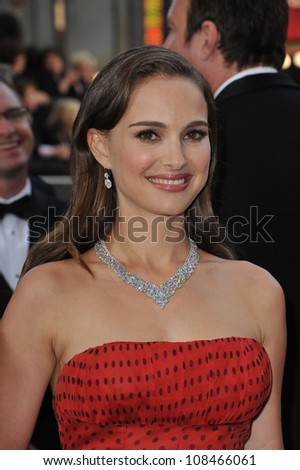 Natalie Portman at the 84th Annual Academy Awards at the Hollywood & Highland Theatre, Hollywood. February 26, 2012  Los Angeles, CA Picture: Paul Smith / Featureflash - stock photo