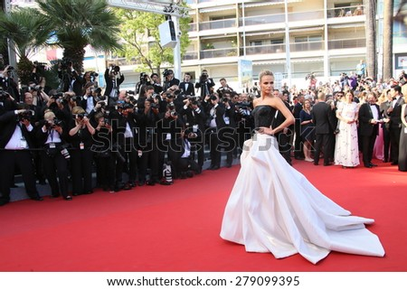 Natasha Poly  attends the 'Carol' Premiere during the 68th annual Cannes Film Festival on May 17, 2015 in Cannes, France. - stock photo