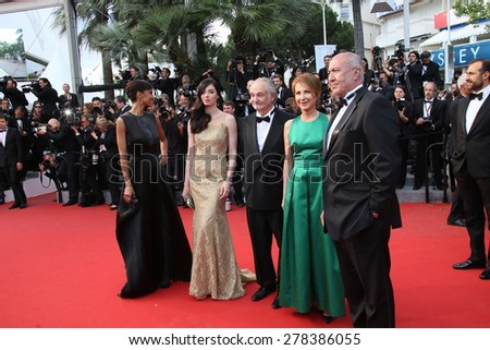 Nathalie Baye attends the Premiere of 'Irrational Man' during the 68th annual Cannes Film Festival on May 15, 2015 in Cannes, France. - stock photo