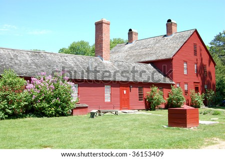 Nathan Hale Homestead, historic site of American Revolutionary War hero Nathan Hale in Coventry, Connecticut - stock photo