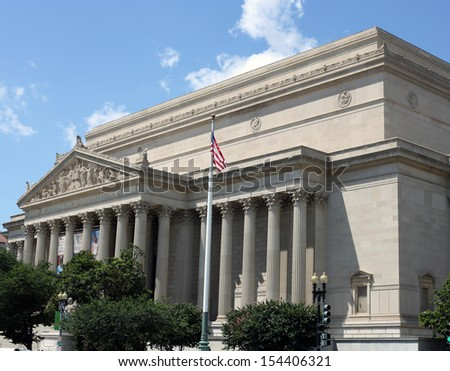 National Archives in Washington DC, USA - stock photo