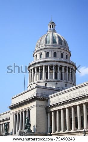 National Capitol Building in La Habana Vieja, Havana, Cuba. - stock photo
