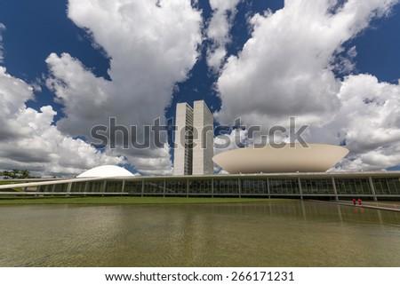 National Congress - Brasilia, Brazil - stock photo