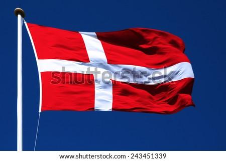 national danish Flag - stock photo