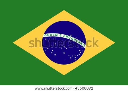 National Flag Brazil - stock photo
