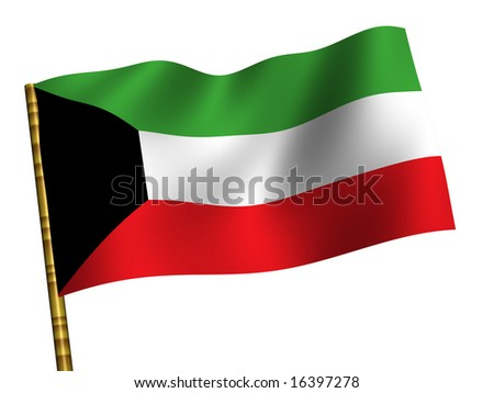 National Flag. Kuwait