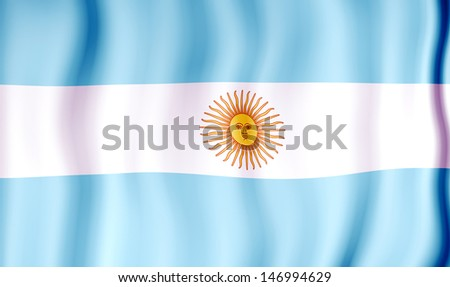 National flag of Argentina - stock photo