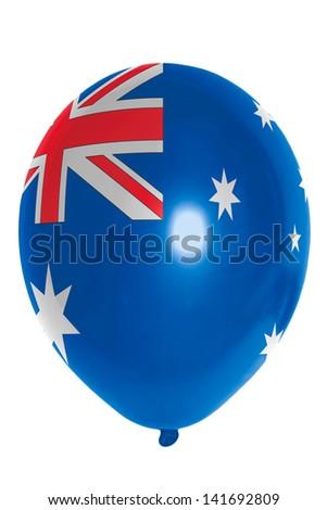 national flag of australia balloon - stock photo