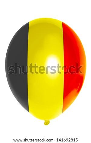 national flag of belgium balloon - stock photo
