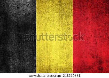 National flag of Belgium. Grungy effect. - stock photo