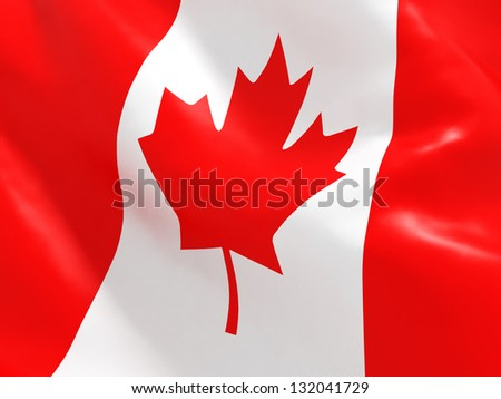National Flag of Canada - stock photo