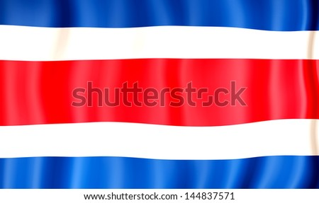 National flag of Costa Rica - stock photo