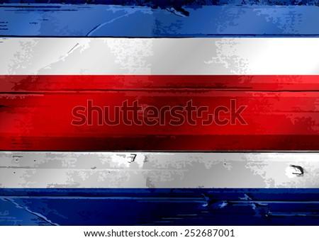 National flag of Costa Rica themes idea design - stock photo