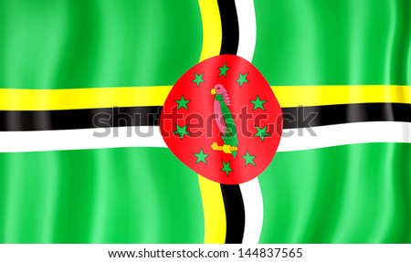 National flag of Dominica - stock photo
