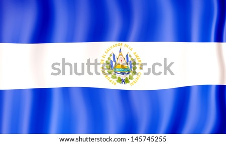 National flag of El Salvador - stock photo