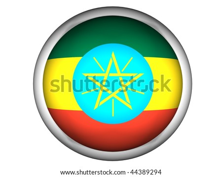 National Flag of Ethiopia | Button Style |