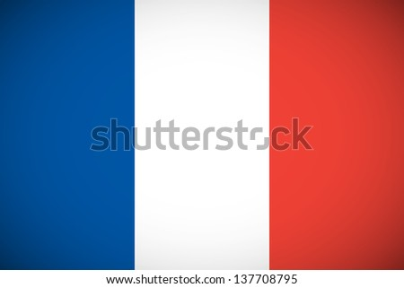 National flag of France with correct proportions and color scheme (raster illustration) - stock photo