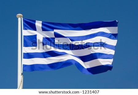 National flag of Greece - stock photo