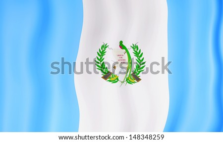 National flag of Guatemala - stock photo