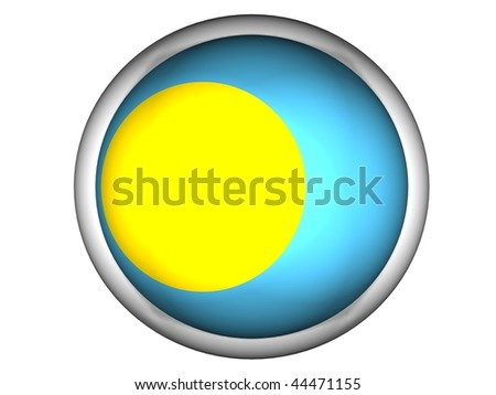 National Flag of Palau | Button Style |