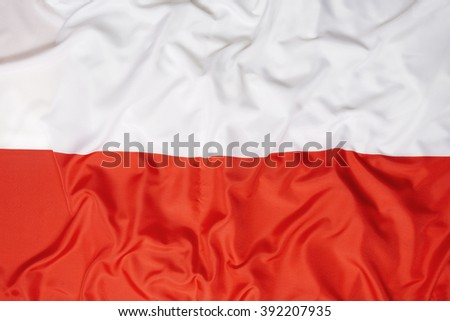 National flag of Poland for a background - stock photo