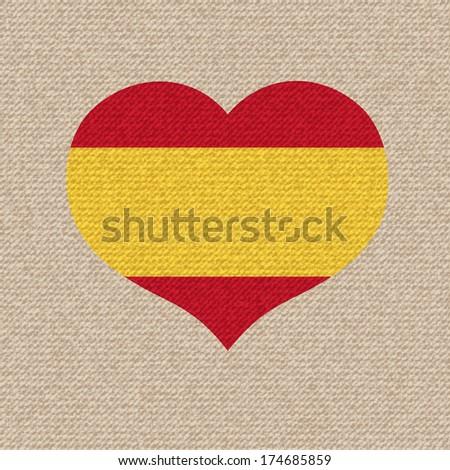 National flag of Spain.  retro illustration. - stock photo