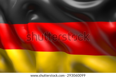 National Flag of the Germany waving in the wind