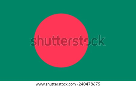 National flag of the People's Republic of Bangladesh. - stock photo