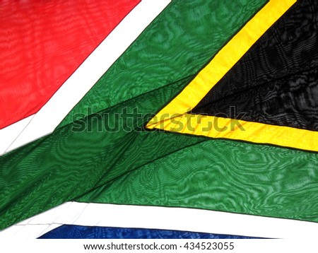 National flag of the Republics of South Africa background close up