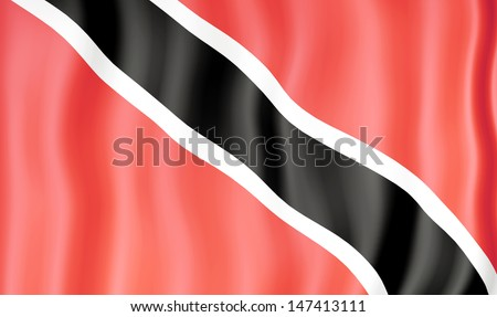 National flag of Trinidad and Tobago - stock photo