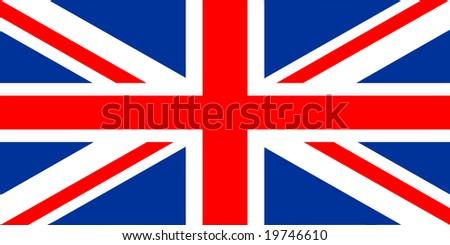 national flag of united kingdom - stock photo
