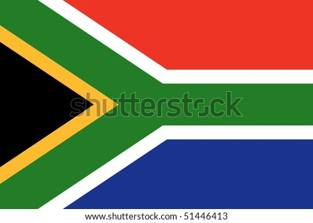 National Flag South Africa - stock photo