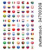national flags around the world - stock photo