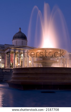 National Gallery and Trafalgar Square in London
