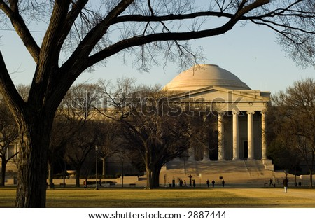 National Gallery of Art in Washington, DC - stock photo