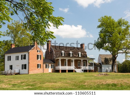 National Historic site of home of Thomas Stone, signer of Declaration of Independence - stock photo