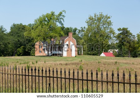 National Historic site of home of Thomas Stone signer of Declaration of Independence - stock photo