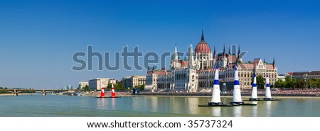 National holiday of hungary on 20th of August - stock photo