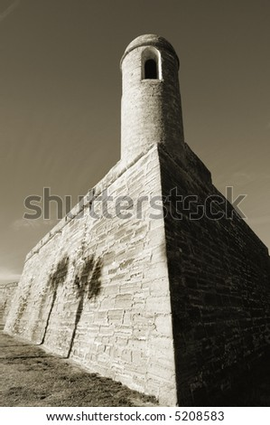 National monument Castillo de San Marcos, St. Augustine, Florida - stock photo