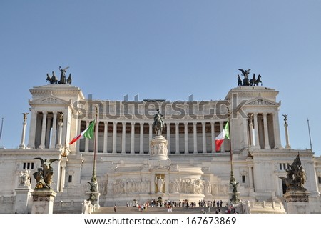 National Monument of Victor Emmanuel II. Rome, Italy - stock photo