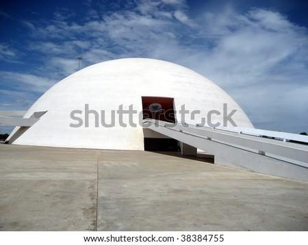National Museum in Brasilia, capital of Brazil - stock photo