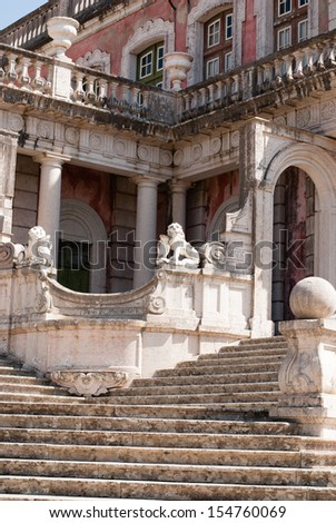 National Palace in Queluz , Portugal - stock photo
