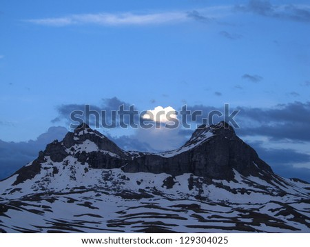 National Park Durmitor Mountains at night - stock photo