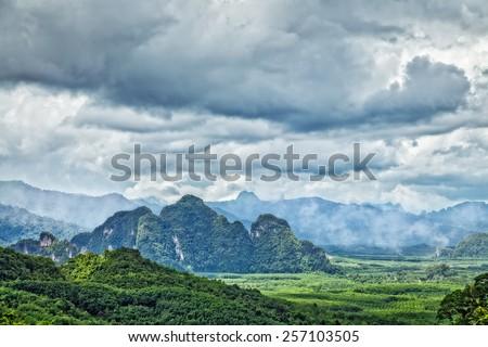 National park Khao Sok. Thailand - stock photo