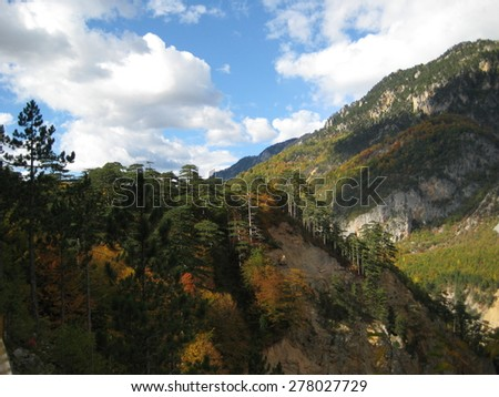National Park Mountains, Montenegro, Europe - stock photo