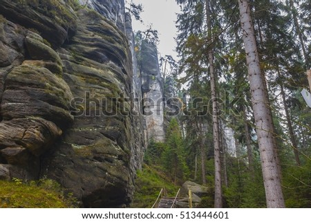 National Park of Adrspach-Teplice rocks. Rock Town. Czech Republic