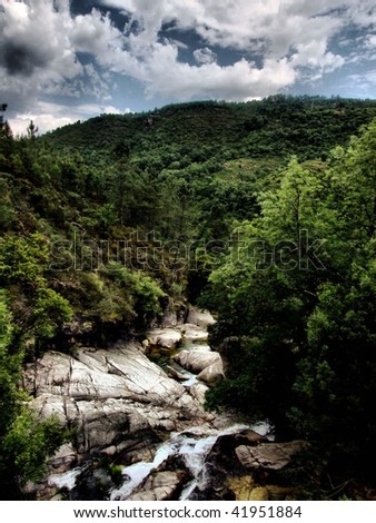 National park of Geres in Portugal - stock photo