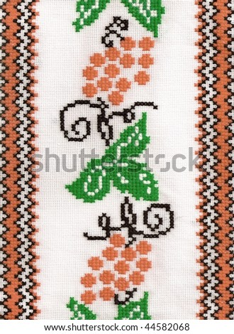 National style of manual embroidery.Hand work masterpieces. - stock photo