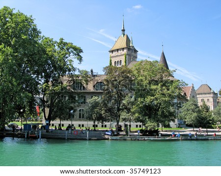 National Swiss historical museum in Zurich - stock photo